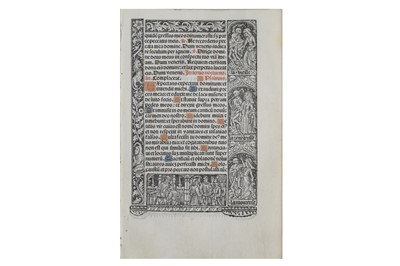 Lot 1504 - Early Continental single book leaves.