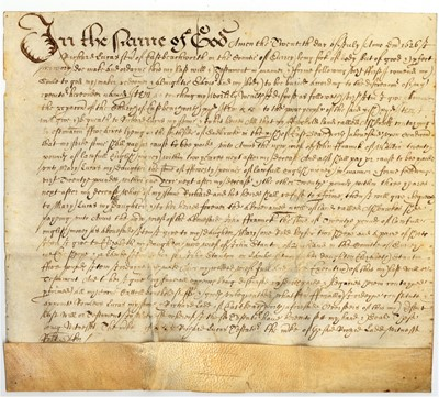 Lot 1518 - Early Mss Legal documents.