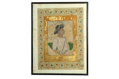 Lot 227 - A PROFILE PORTRAIT OF TIPU SULTAN, RULER OF MYSORE (1750 - 1799)