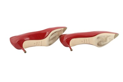 Lot 22 - Sergio Rossi Cherry Kitten Heel Pointed Pumps - Size 38