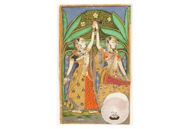 Lot 231 - TWO DANCING LADIES UNDER PALM TREES