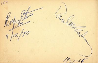 Lot 1017 - Autograph Album.- Incl. Paul McCartney & Ringo Starr
