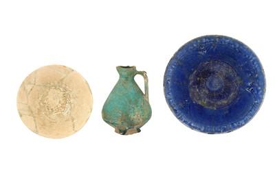 Lot 308 - THREE PERSIAN POTTERY VESSELS