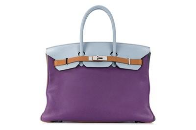 Lot 64 - Hermes Limited Edition Harlequin Clemence Birkin 35