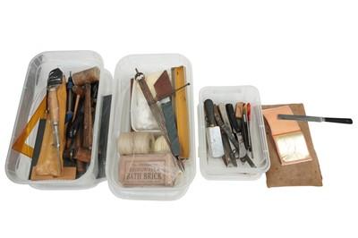 Lot 1541 - Book binding equipment.