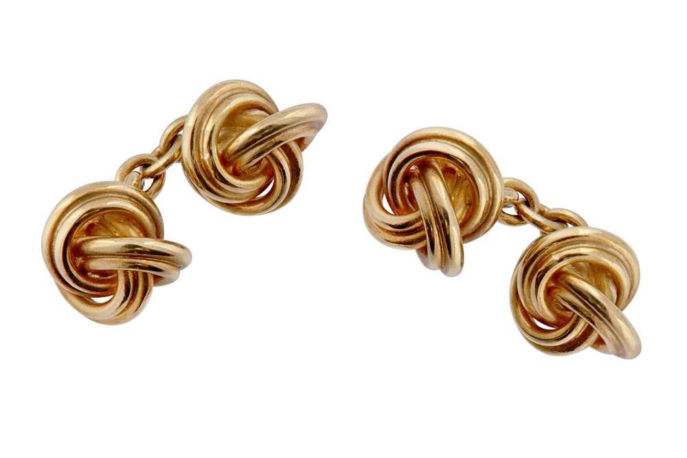 Lot 47 - Deakin & Francis | A pair of gold cufflinks, 1990