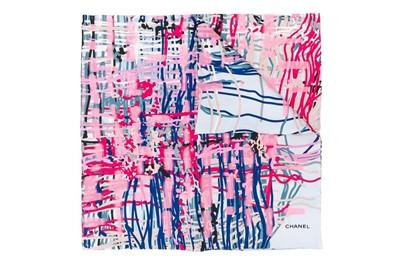 Lot 51 - Chanel Brushstroke Print Silk Scarf