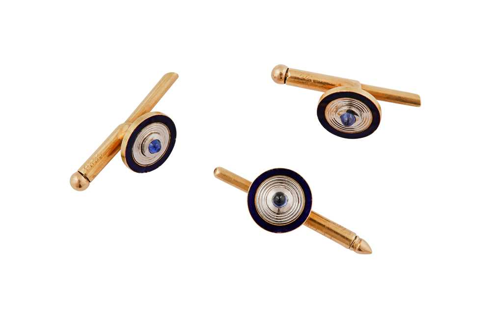 Lot 3 - Cartier | A set of shirt studs, first half of the 20th century