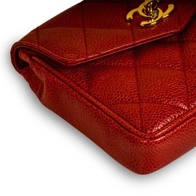 Lot 5 - Chanel Red Mini Square Belt Bag