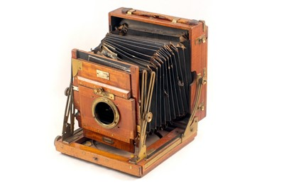 Lot 3 - Sanderson Regular Half Plate Camera, for SPARES or REPAIR.