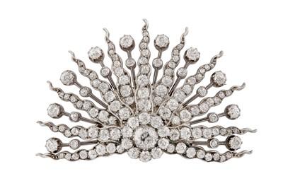 Lot 56 - A diamond starburst brooch, circa 1895