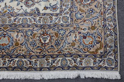 Lot 37 - A FINE SIGNED KASHAN CARPET, CENTRAL PERSIA