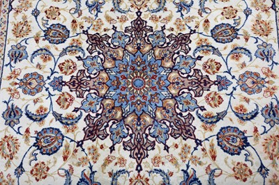 Lot 22 - AN EXTREMELY FINE PART SILK ISFAHAN RUG, CENTRAL PERSIA