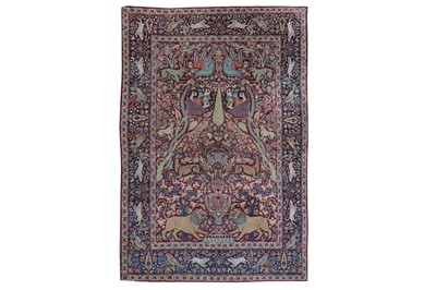 Lot 54 - AN ANTIQUE MESHED RUG, SOUTH PERSIA