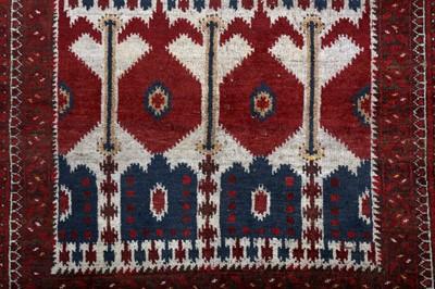 Lot 14 - AN ANTIQUE BESHIR RUG, TURKMENISTAN