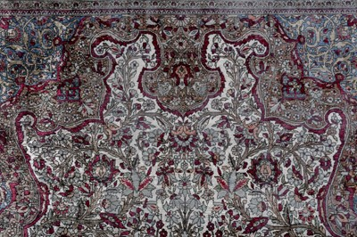 Lot 40 - A VERY FINE SILK KASHAN RUG, CENTRAL PERSIA
