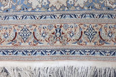 Lot 7 - A EXTREMELY FINE PART SILK NAIN RUG, CENTRAL PERSIA