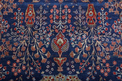 Lot 46 - A VERY FINE KASHAN MOHTASHEM RUG, CENTRAL PERSIA