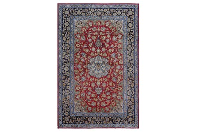 Lot 80 - AN EXTREMELY FINE PART SILK ISFAHAN RUG, CENTRAL PERSIA
