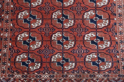 Lot 25 - A FINE BOKHARA RUG, TURKMENISTAN