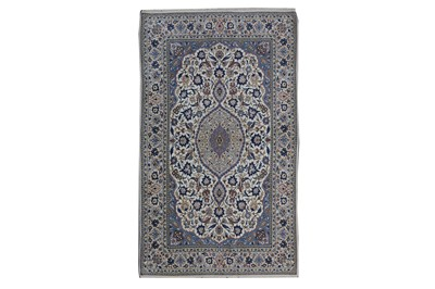 Lot 86 - AN EXTREMELY FINE PART SILK ISFAHAN RUG, CENTRAL PERSIA