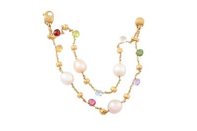 Lot 73 - Marco Bicego | A 'Paradice' gem-set and cultured pearl bracelet