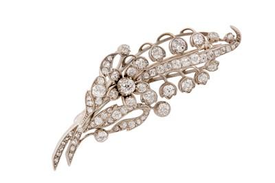 Lot 53 - A diamond floral brooch, circa 1895