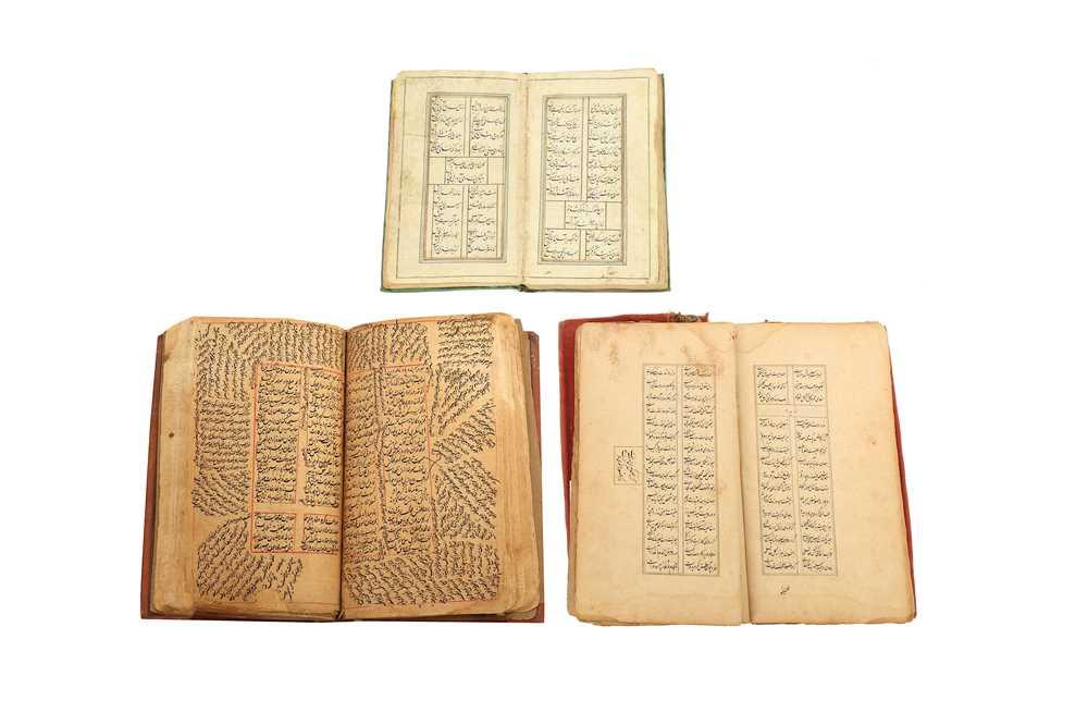 Lot 337 - THREE PERSIAN MANUSCRIPTS OF POETIC CONTENT