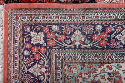 Lot 44 - AN EXTREMELY FINE SIGNED SILK QUM RUG, CENTRAL PERSIA