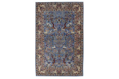 Lot 94 - AN EXTREMELY FINE PART SILK ISFAHAN RUG, CENTRAL PERSIA