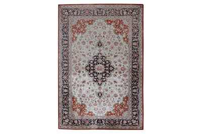 Lot 50 - AN EXTREMELY FINE SILK QUM RUG, CENTRAL PERSIA