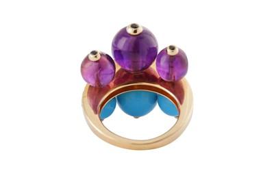Lot 40 - A multi-gem and diamond dress ring