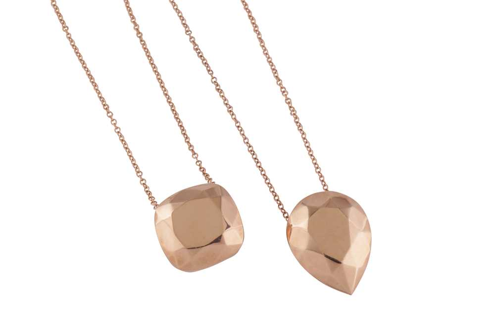 Lot 14 - A pair of pendant necklaces