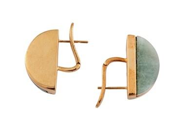 Lot 87 - A pair of demi-lune earrings