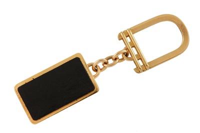 Lot 46 - A gold and diamond-set 'Rolls Royce' keychain