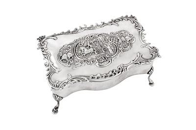 Lot 76 - An Edwardian sterling silver jewellery casket, London 1903 by William Comyns