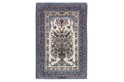 Lot 75 - AN EXTREMELY FINE PART SILK SIGNED ISFAHAN RUG, CENTRAL PERSIA