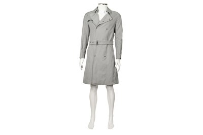 Lot 24 - Burberry Grey Check Trench Coat