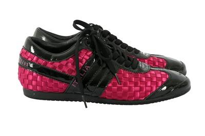 Lot 8 - Dolce & Gabbana Fuchsia Italia Trainer - Size 6