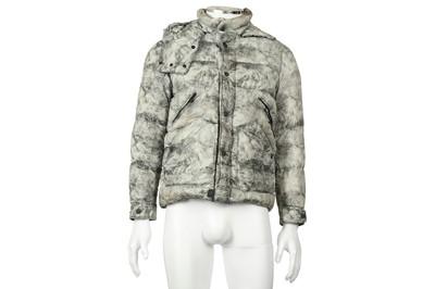 Lot 26 - Moncler Grey Print Puffer Jacket - Size 0
