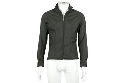 Lot 30 - Thierry Mugler Dark Grey Nylon Jacket - Size 38