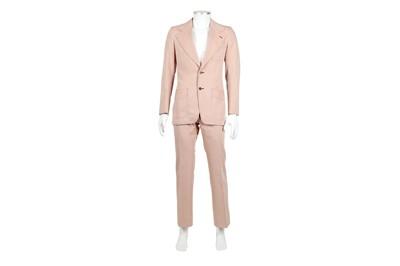 Lot 9 - Yves Saint Laurent Pale Pink Cotton Suit - Size 44