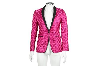 Lot 6 - Dolce & Gabbana Fuchsia Woven Blazer - Size 44
