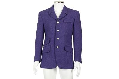 Lot 20 - Thierry Mugler Purple Wool Military Jacket - Size 46