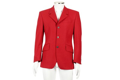 Lot 3 - Thierry Mugler Red Wool Military Jacket - Size 46