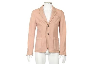 Lot 10 - Alexander McQueen Blush Pink Denim Blazer - Size 46