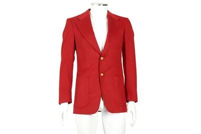 Lot 4 - Gucci Red Cashmere Single Breasted Blazer - Size 44