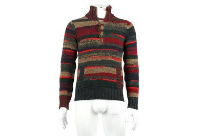 Lot 15 - Dolce & Gabbana Burgundy Wool Stripe Jumper