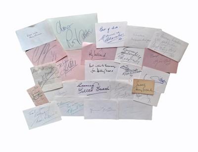 Lot 829 - Autograph Collection.- Actors & Entertainers