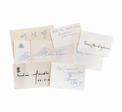 Lot 835 - Autograph Collection.- Foreign Politicians